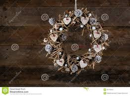 Decorating Pine Christmas Wreaths by Decorated Christmas Wreath White Birch Hearts And Pine Cones Ol