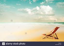 Beach Lounger Empty Beach Lounger At Beach Stock Photo Royalty Free Image
