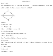 ncert solutions for class 9th maths chapter 7 triangles aglasem