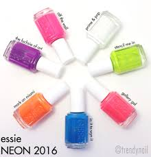swatches u0026 review essie neon 2016 the trendy nail