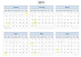 2011 printable one page excel calendar template 2011 one page