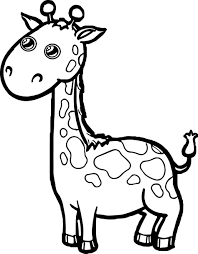 zoo giraffe cartoon coloring page wecoloringpage