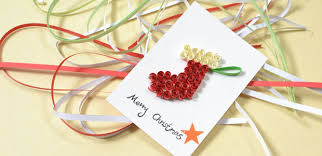 how to make a merry christmas card with paper quilling stocking 6