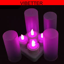 Light Purple Color by 2018 Purple Color Mini Flameless Rechargeable Led Tea Light Candle