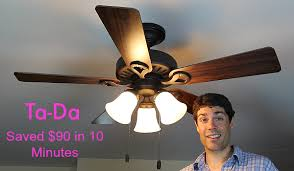 How To Fix Pull Cord On Ceiling Fan Ceiling Fan Light Repair Save 90 In 10 Minutes Home Repair Tutor
