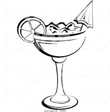 cosmopolitan drink clipart black and white cocktails clipart 26