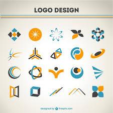 design logo download free orange and blue logos set vector free download