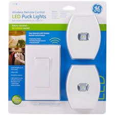 ge wireless remote led puck lights 2pk jasco