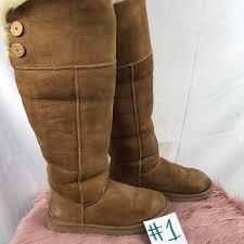 ugg shoes australia brown boots poshmark ugg shoes australia bailey button the knee boots poshmark