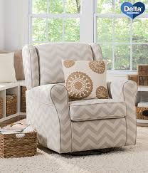 Dorel Rocking Chair Slipcover Delta Children Morgan Chevron Nursery Glider Swivel Rocker Chair