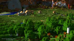 minecraft plains village high res wallpaper by