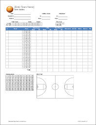 Stat Sheet Template Basketball Team Roster Template For Excel