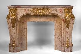 prestigious antique fireplace in scagliola as sarrancolin