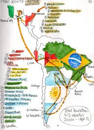 North South America Map by South America Travel Information Map Tourist Attractions Major