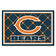 Nfl Area Rugs Fanmats Chicago Bears 5 Ft X 8 Ft Area Rug 6566 The Home Depot