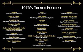 wedding band playlist the playlist for a 1920 s themed event tasty weddings