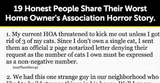 hilarious hoa stories 19 honest people share their worst home owner s association horror