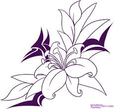 simple flower designs pencil drawing mehndi drawing flower motif 1