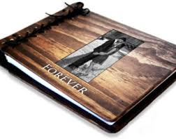 personalized wedding albums book large personalized wood wedding guest book album rustic