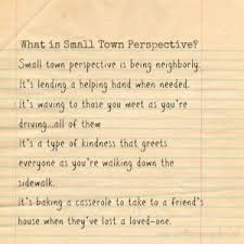 why small town perspective small town perspective