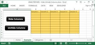 hide unhide columns in excel worksheet using vba innovating