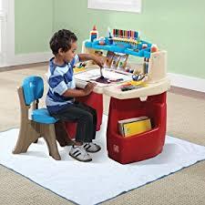 step 2 deluxe art desk amazon com step2 deluxe art master kids desk toys games