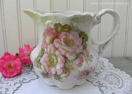 pitcher of roses large antique pitcher with pink roses germany the pink