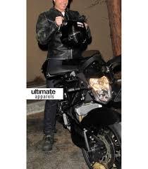 black motorbike jacket tom cruise distressed black motorcycle leather jacket