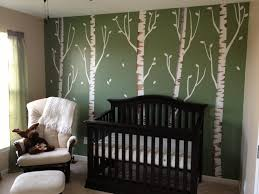 Brown Tree Wall Decal Nursery Birch Tree Wall Decals Birch Tree Decal Reusable