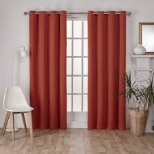 Burnt Orange Kitchen Curtains by Orange Curtains U0026 Drapes You U0027ll Love Wayfair