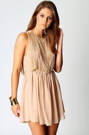 boohoo clothing boohoo sleeveless tassle top chiffon dress ebay