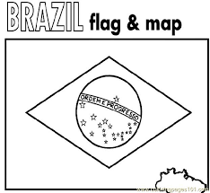 brazil flag u0026 map coloring page world geography pinterest