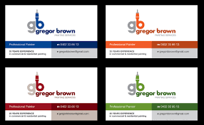 Professional Painting Business Card Design For Gregor Brown Professional Painting