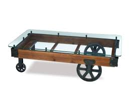 Glass Coffee Table With Wheels 34 Best Railroad Cart Coffee Table Images On Pinterest Cart