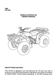 honda owner manual trx300 1996