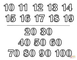 classic alphabet numbers chart ii coloring page free printable