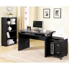 Coaster Executive Desk Coaster Peel Computer Desk With Keyboard Tray In Black 800821ii
