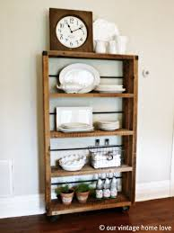 our vintage home love reclaimed wood shelving