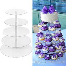 5 tier cupcake stand 5 tier clear acrylic cupcake stand wedding birthday cake