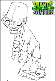 plants zombies coloring pages buckethead zombie coloringstar