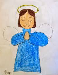 draw a simple angel art class ideas