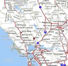 california map napa map of san francisco bay california