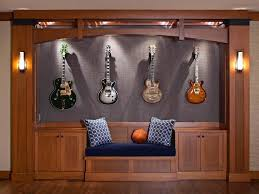 wall lighting recliners stage recessed guitars rock roll velvet
