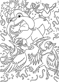 friends coloring pages for kids printable free rio cartoon