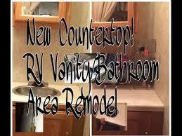 rv bathroom vanity re do