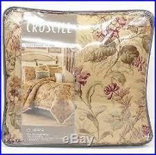 Antique Rose Comforter Set Cottage Rose Queen Comforter Set 5pc Vintage Floral Pillow Ivory Pink
