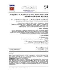 id e canap ap ro frequency of procedural errors during pdf available