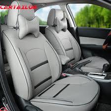 housse de siege en cuir pour voiture cartailor gris couverture sièges fit pour jeep grand