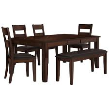 Dining Room Sets 6 Chairs by Mango2 Dark Tone Rectangular Table