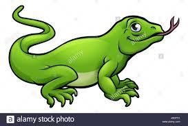 a komodo dragon lizard cute cartoon character stock photo royalty